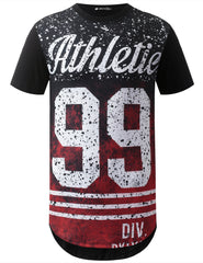 BLACK Athletic 99 Longline Crewneck Tshirts- URBANCREWS