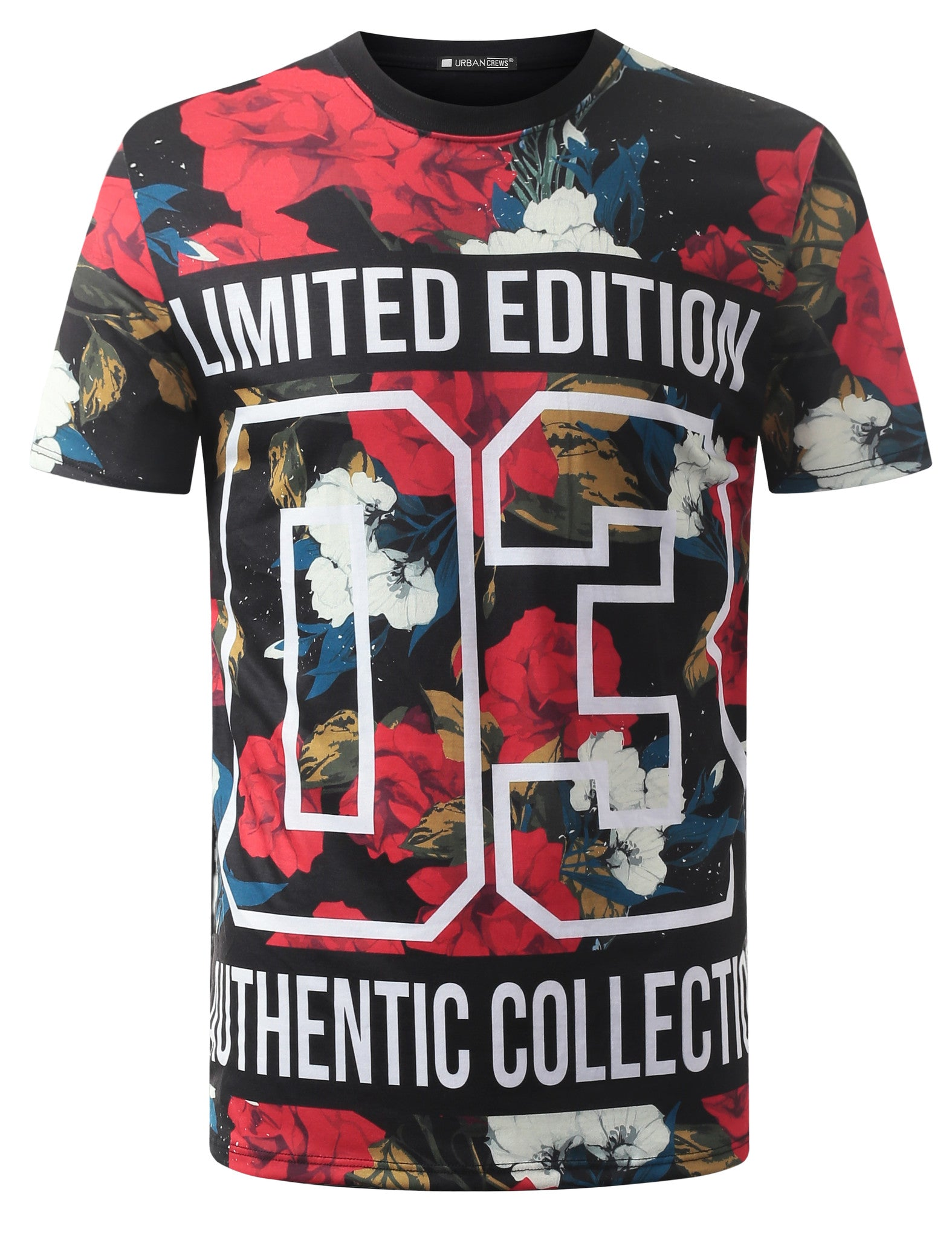 BLACK Limited Edition Floral Crewneck Tshirt - URBANCREWS