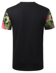 BLACK United 86 Floral Crewneck Tshirt - URBANCREWS