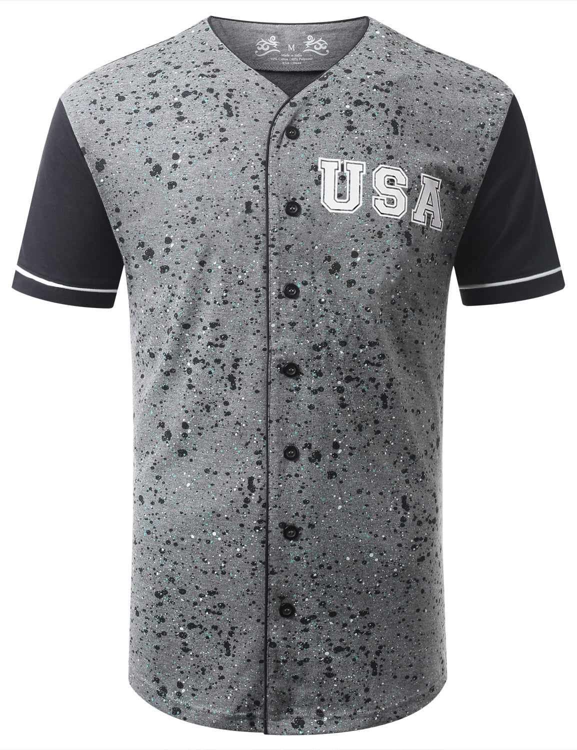 USA Color Splatter Baseball Tshirt - URBANCREWS