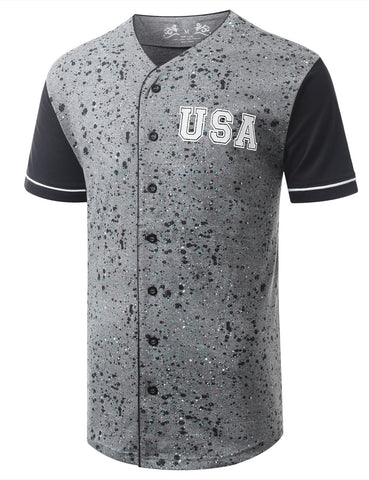 Color Splatter USA Baseball Jersey