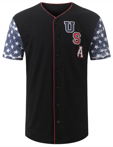 USA Star Flag Baseball Jersey