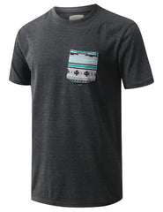 CHARCOAL Graphic Knitten Pocket Tshirt - URBANCREWS