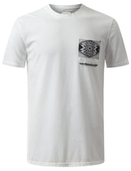 WHITE Knitten Aztec Pocket Tshirt - URBANCREWS