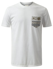 WHITE Knitten Aztec Graphic Pocket Tshirt - URBANCREWS