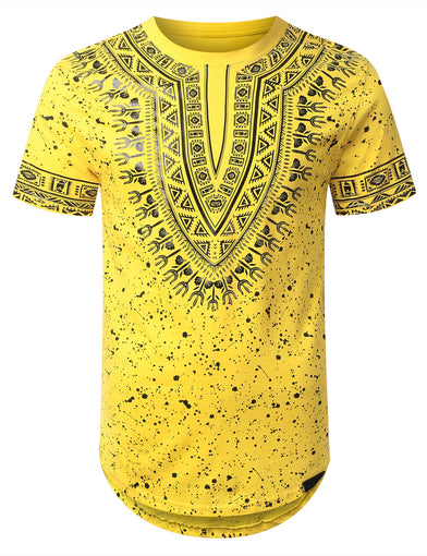 Splatter Dashiki Longline T-shirt