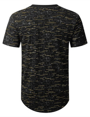 BLACKGOLD Color Texture Longline Tshirt - URBANCREWS