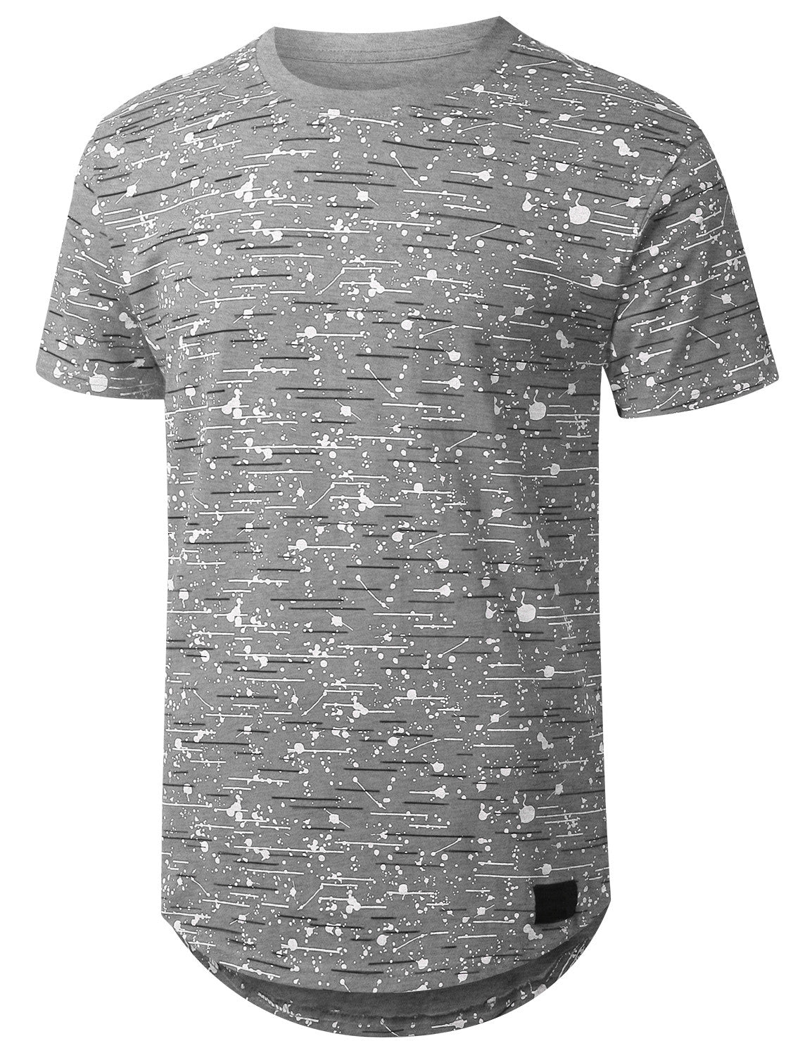 HGRAY Color Texture Longline Tshirt - URBANCREWS