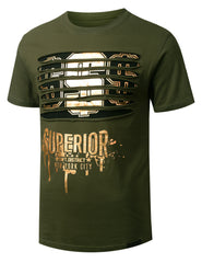 OLIVE Dollar Gold Ripped Crewneck T-shirt - URBANCREWS