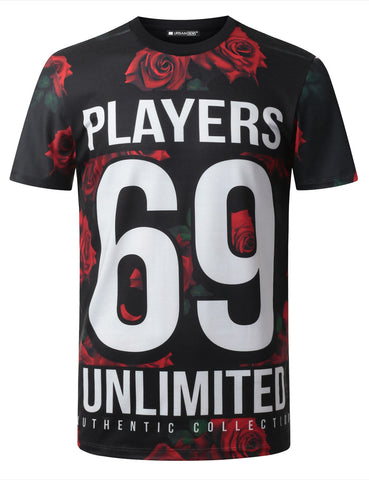 Players 69 Floral Crewneck Tshirt