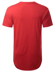 RED Nordic Border Graphic Longline Tshirt - URBANCREWS