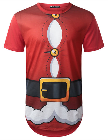 Fat Santa Graphic Longline Tshirt