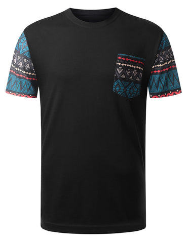 Navajo Tribal Pattern Pocket Tshirt