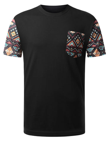 Aztec Tribal Pattern Pocket Tshirt