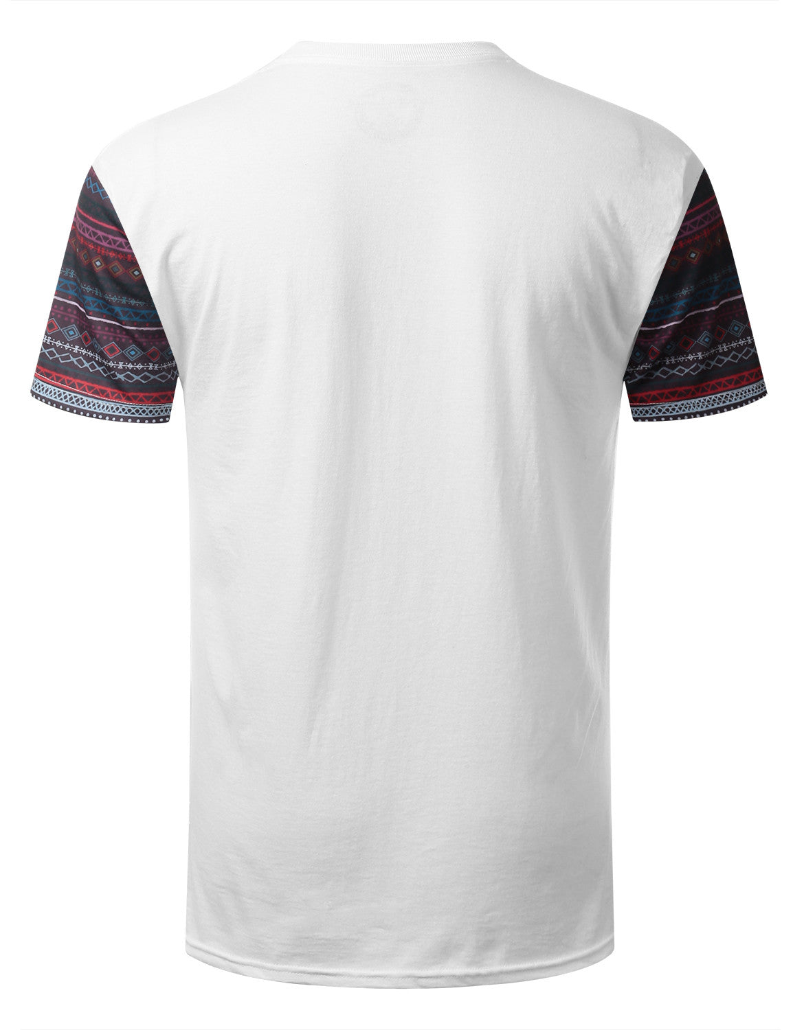 WHITE Mayan Tribal Pattern Pocket Tshirt - URBANCREWS