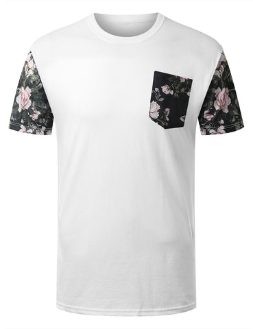 Floral Graphic Pocket Tshirt