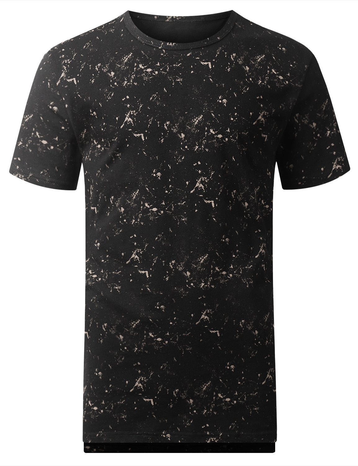 BLACK Tied Wash Longline T-shirt - URBANCREWS