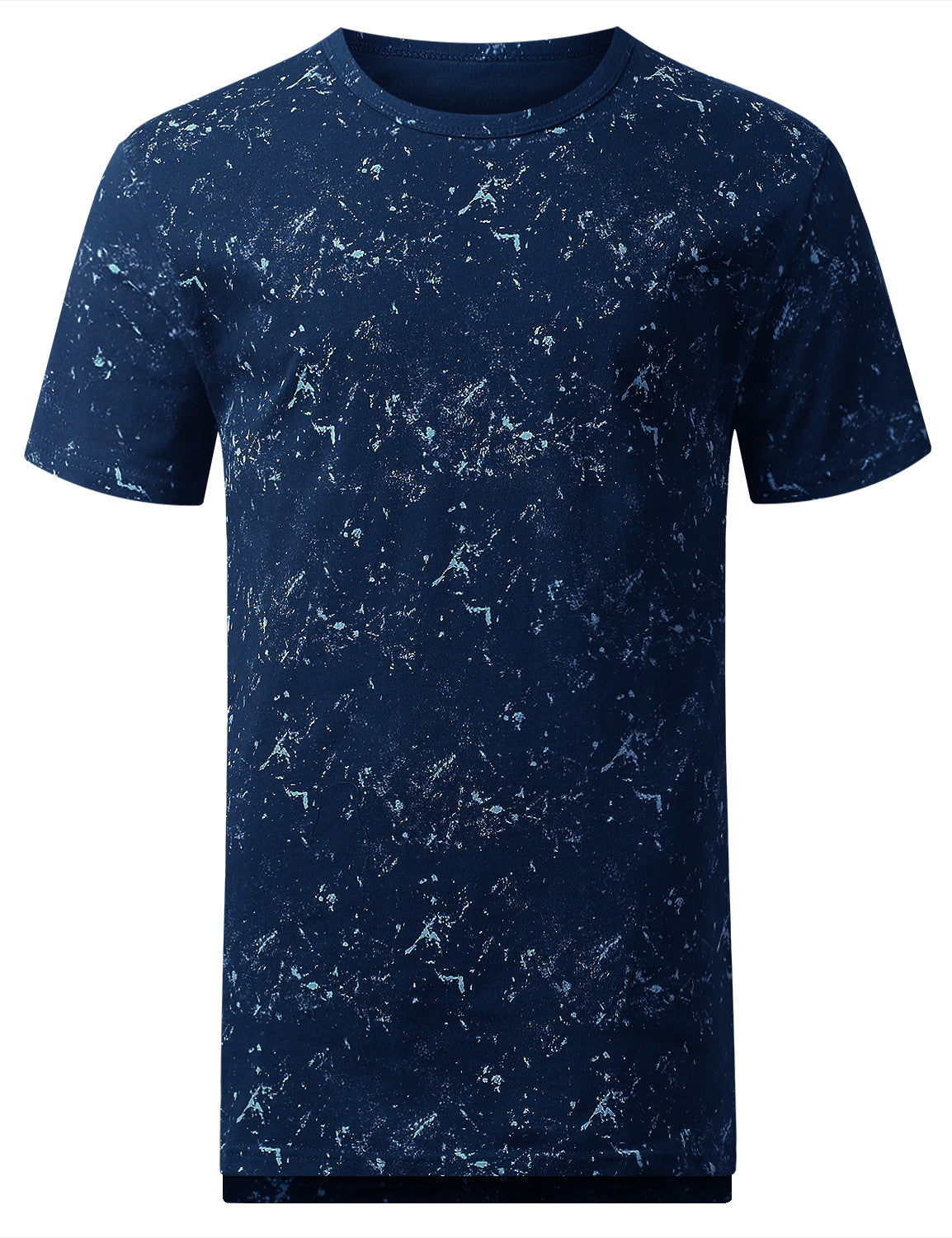 BLUE Tied Wash Longline T-shirt - URBANCREWS