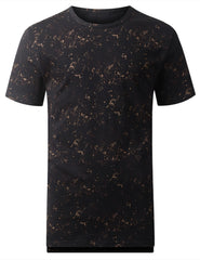 BROWN Tied Wash Longline T-shirt - URBANCREWS