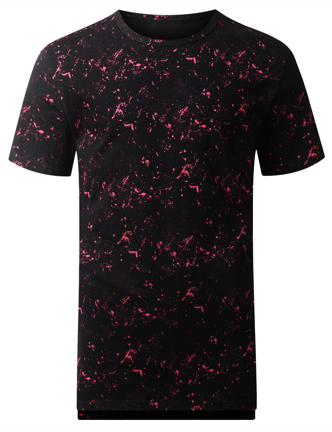 MAGENTA Tied Wash Longline T-shirt - URBANCREWS