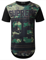 BLACK Supreme Camo Longline T-shirt - URBANCREWS