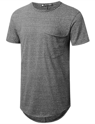 Melange Longline Pocket T-shirt
