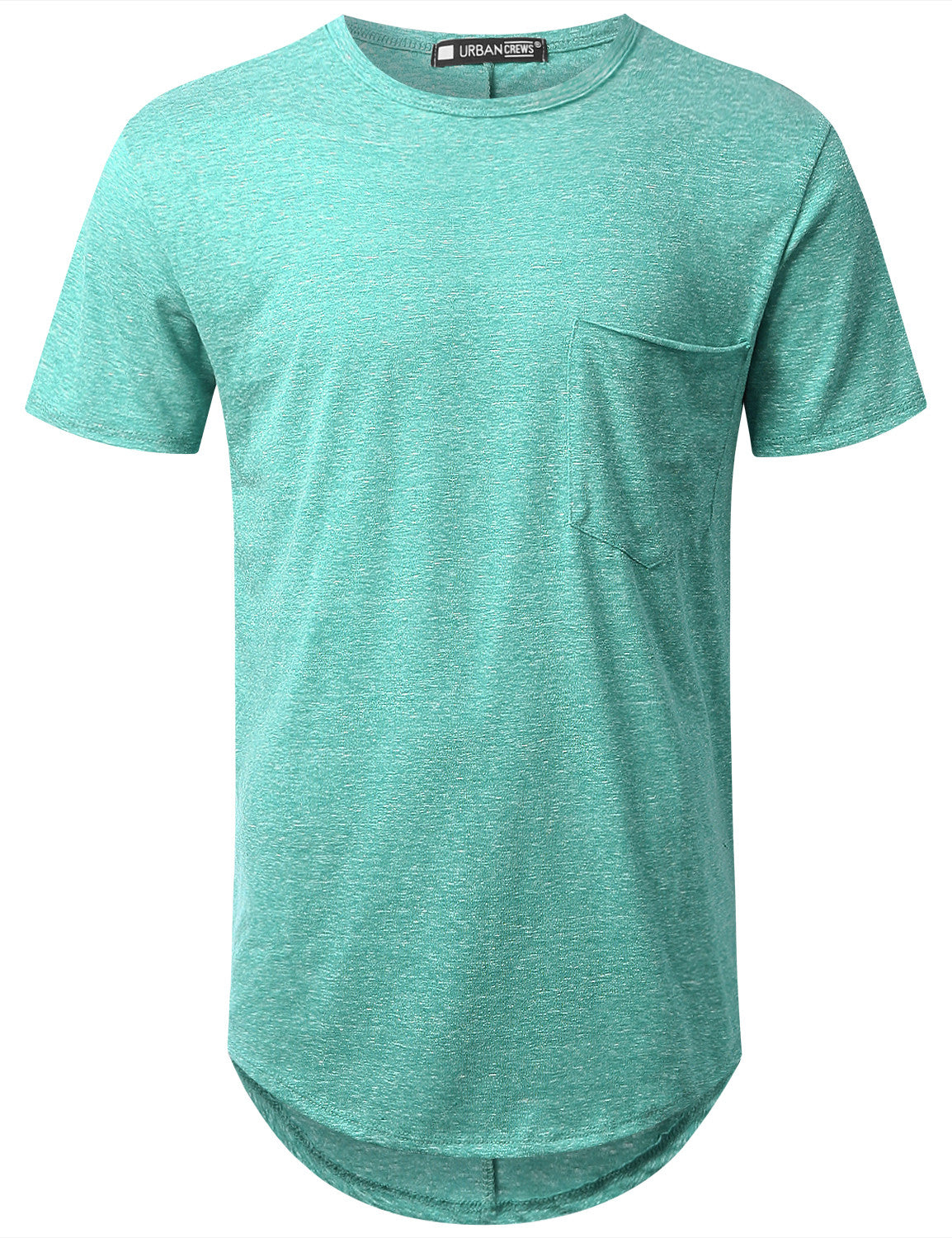 JADE Melange Longline Pocket T-shirt - URBANCREWS