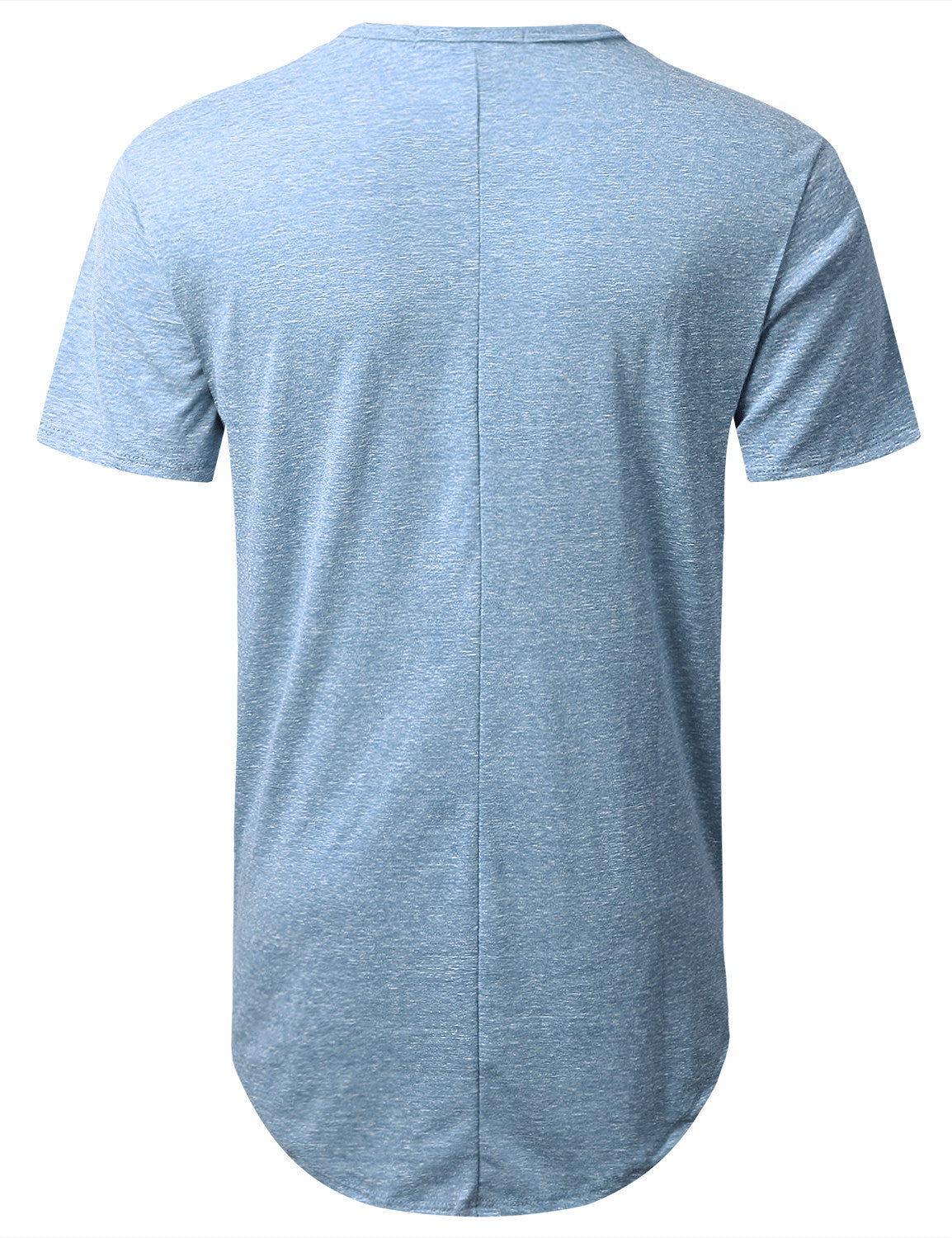 LTBLUE Melange Longline Pocket T-shirt - URBANCREWS