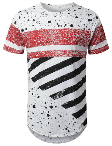 Bar Striped Longline T-shirt