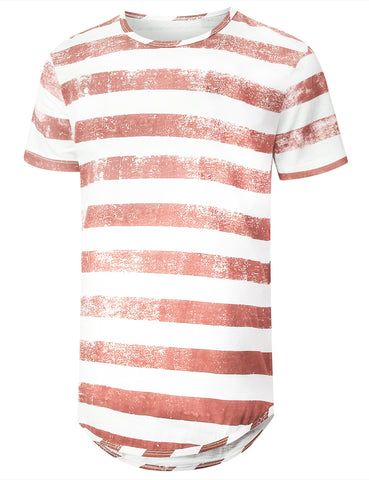 Faded Striped Longline T-shirt