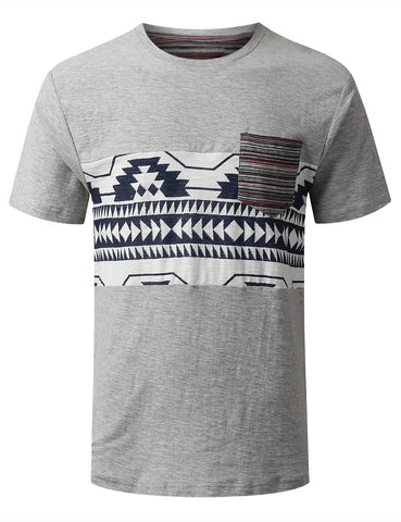 Reverse Aztec Pocket T-shirt