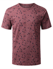 BURGUNDY Rain Clouds Graphic Crewneck T-shirt - URBANCREWS