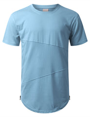 PBLUE Mesh Trim Tonal Longline T-shirt - URBANCREWS