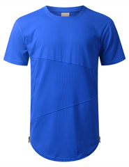 ROYAL Mesh Trim Tonal Longline T-shirt - URBANCREWS
