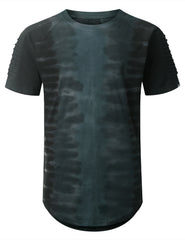 GRAY Tie Dyed Longline T-shirt - URBANCREWS