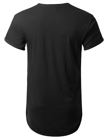 Basic Muscle Fit Longline T-shirt