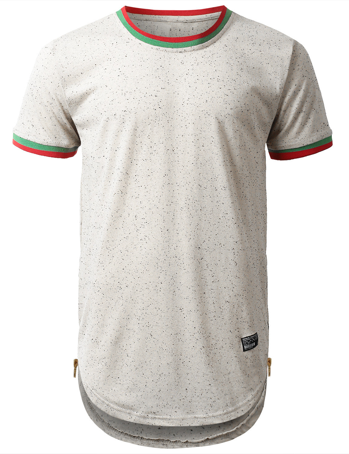 WHITE Nap Yarn Ringer Longline T-shirt - URBANCREWS