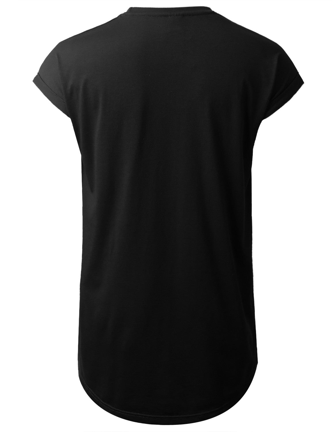BLACK Drop Shoulder Longline T-shirt - URBANCREWS