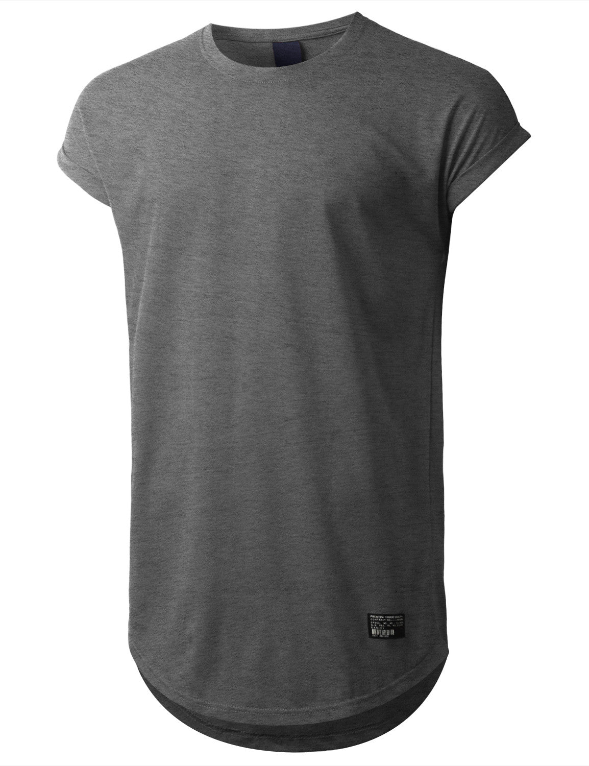 CHARCOAL Drop Shoulder Longline T-shirt - URBANCREWS