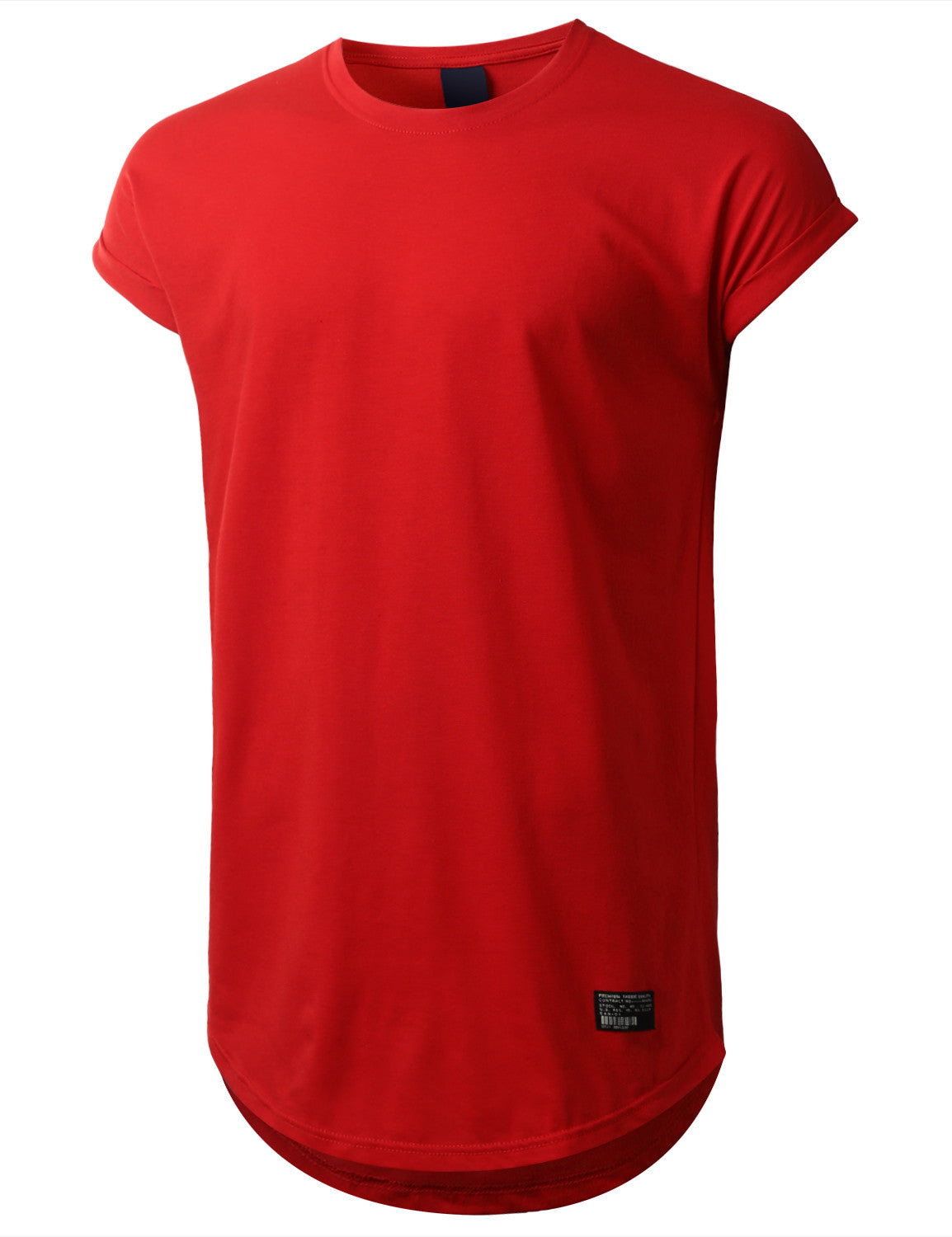 RED Drop Shoulder Longline T-shirt - URBANCREWS