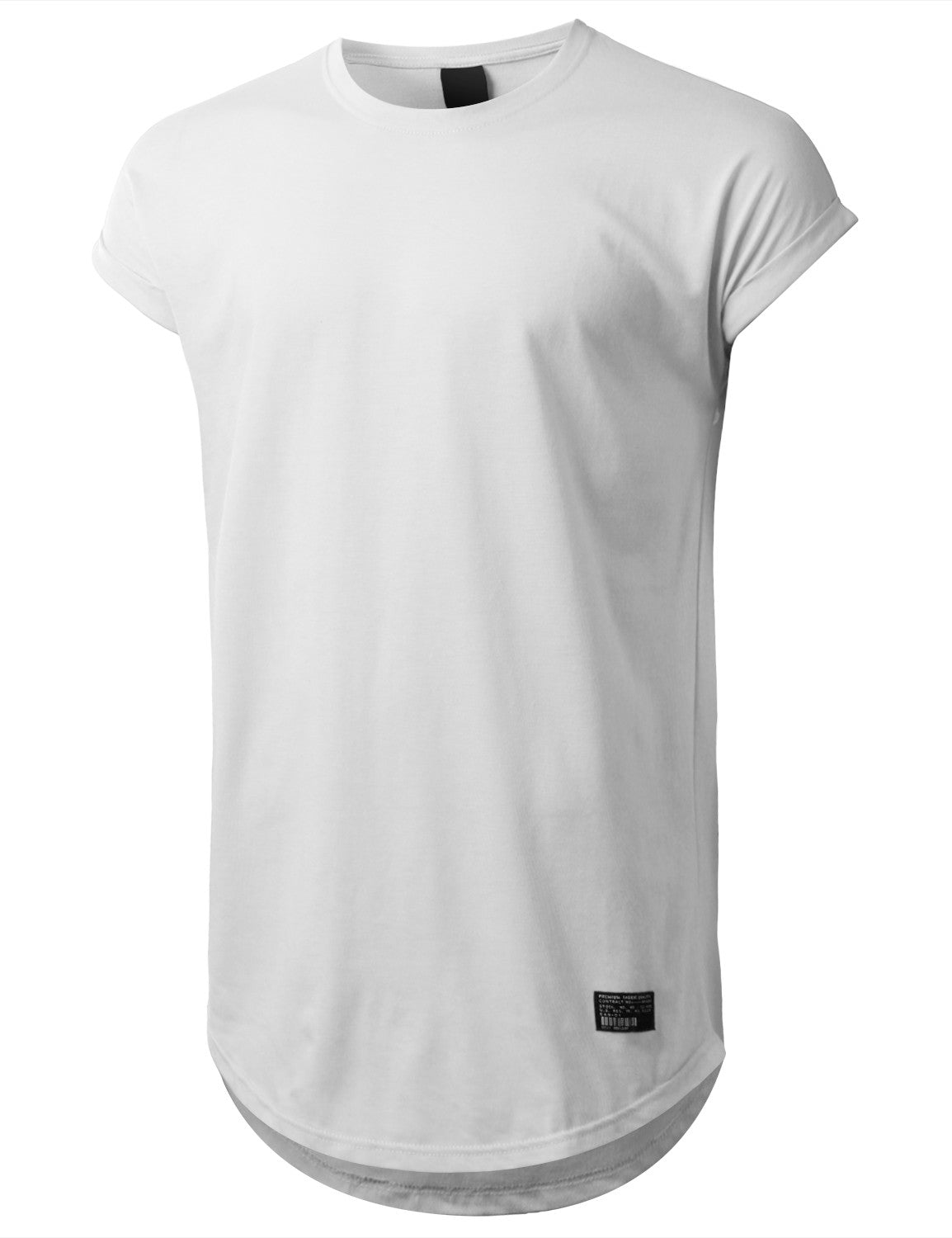 WHITE Drop Shoulder Longline T-shirt - URBANCREWS