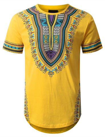 Dashiki Graphic Longline T-shirt