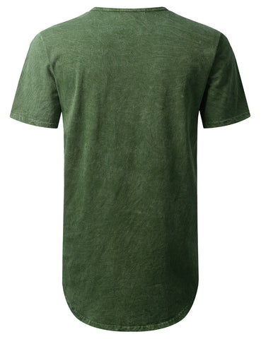 Cotton Dyed Longline Pocket T-shirt