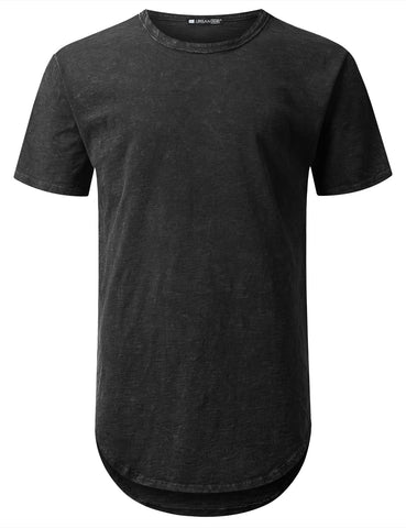 Cotton Slub Longline T-shirt