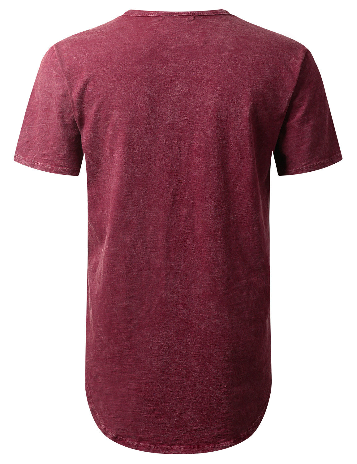 BURGUNDY Cotton Slub Longline T-shirt - URBANCREWS