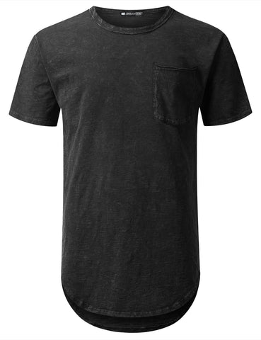 Cotton Slub Longline Pocket T-shirt