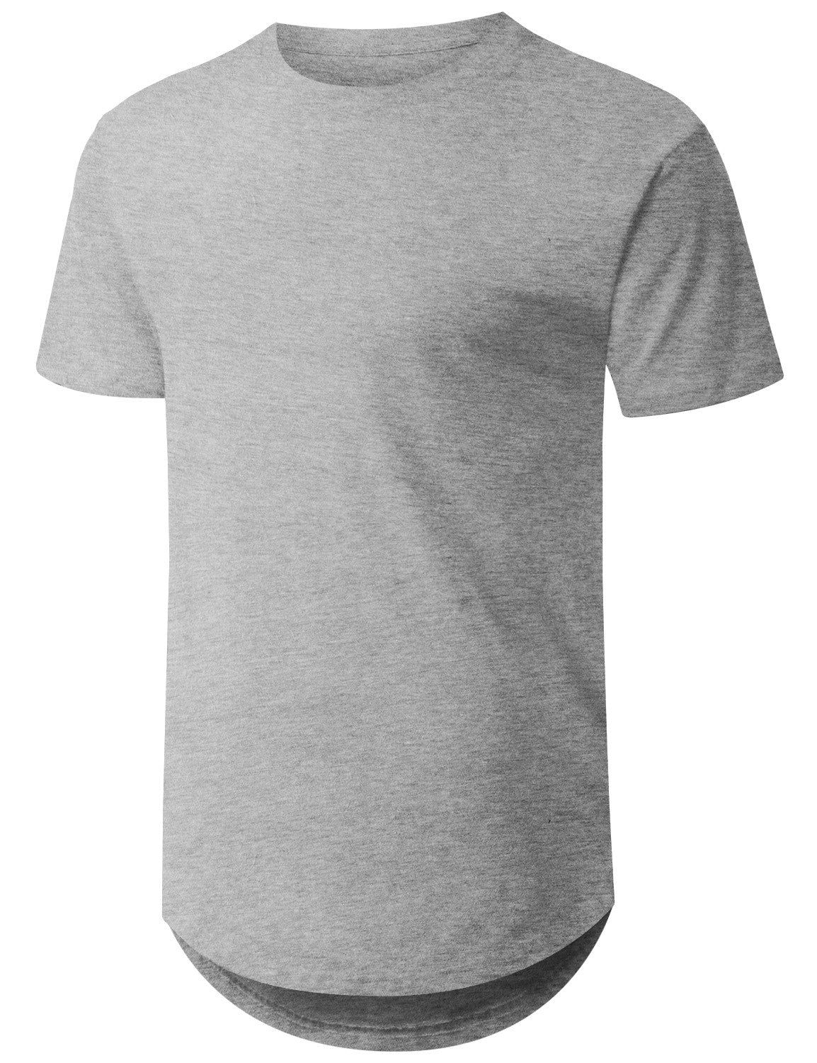 HGRAY Basic Solid Longline T-shirt - URBANCREWS
