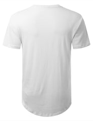 WHITE Basic Solid Longline T-shirt - URBANCREWS