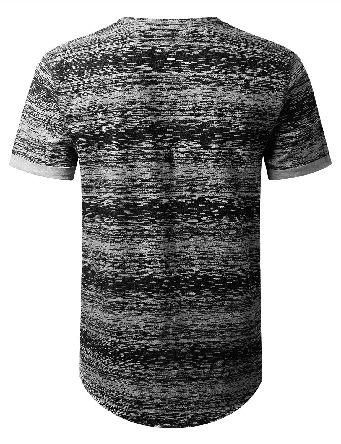 BLACK Space Dye Paint Pocket T-shirt - URBANCREWS