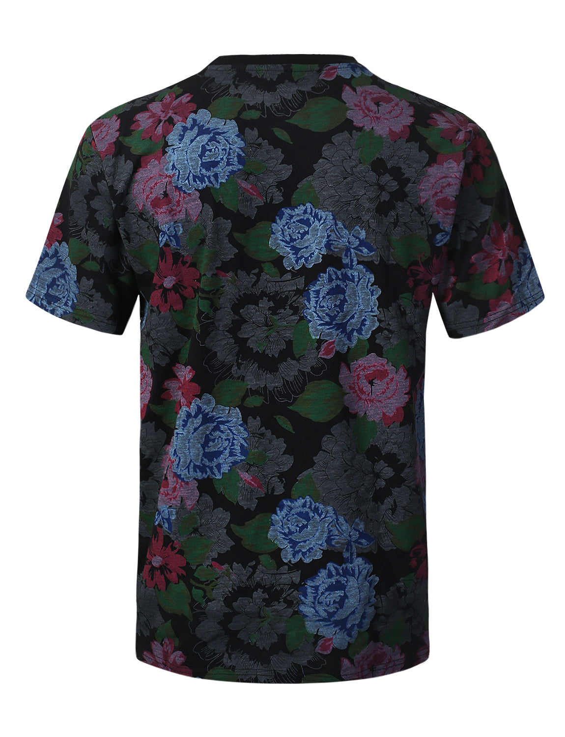BLACK Hope Flower Graphic Print T-shirt - URBANCREWS